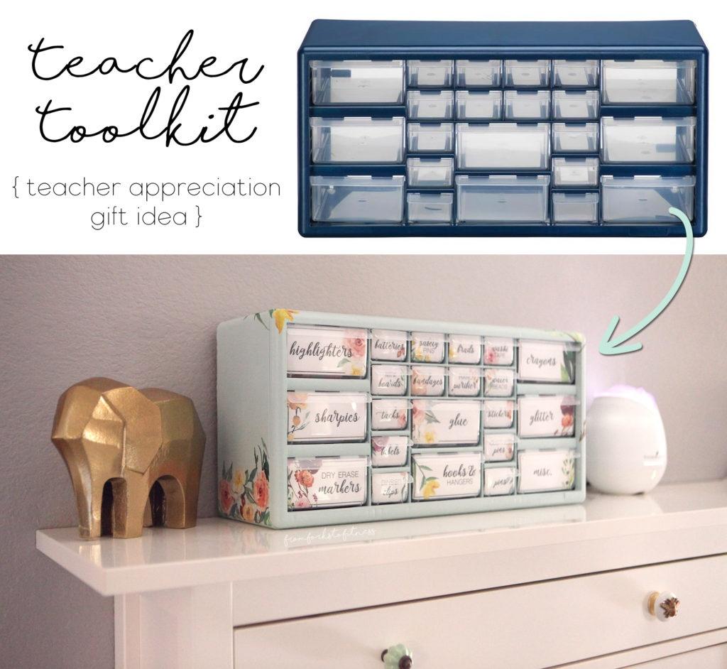 Teacher Gift Idea - How To Make A Teacher Toolbox Full Of Surprises! - Free Printable Teacher Toolbox Labels