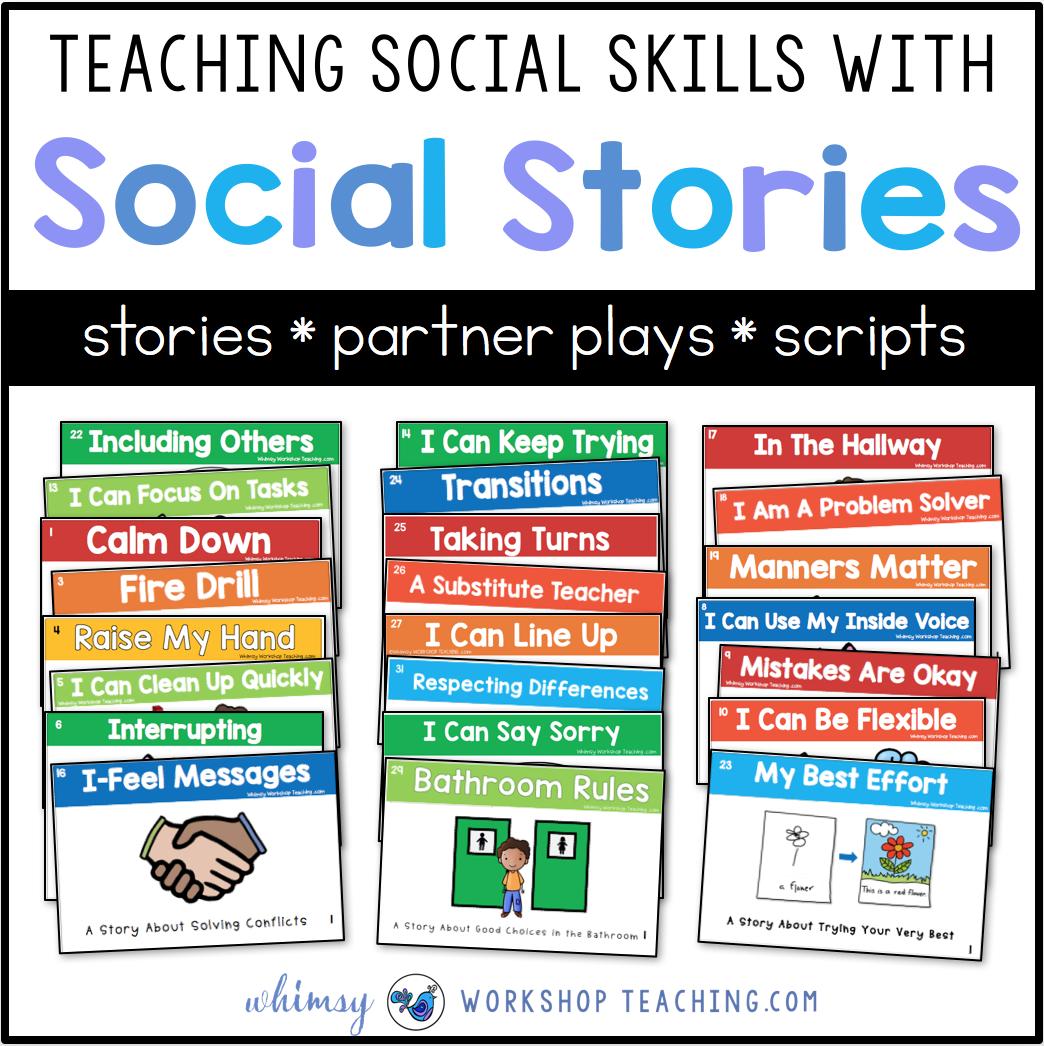 Teaching Social Skills With Social Stories - Whimsy Workshop Teaching - Free Printable Social Skills Stories For Children