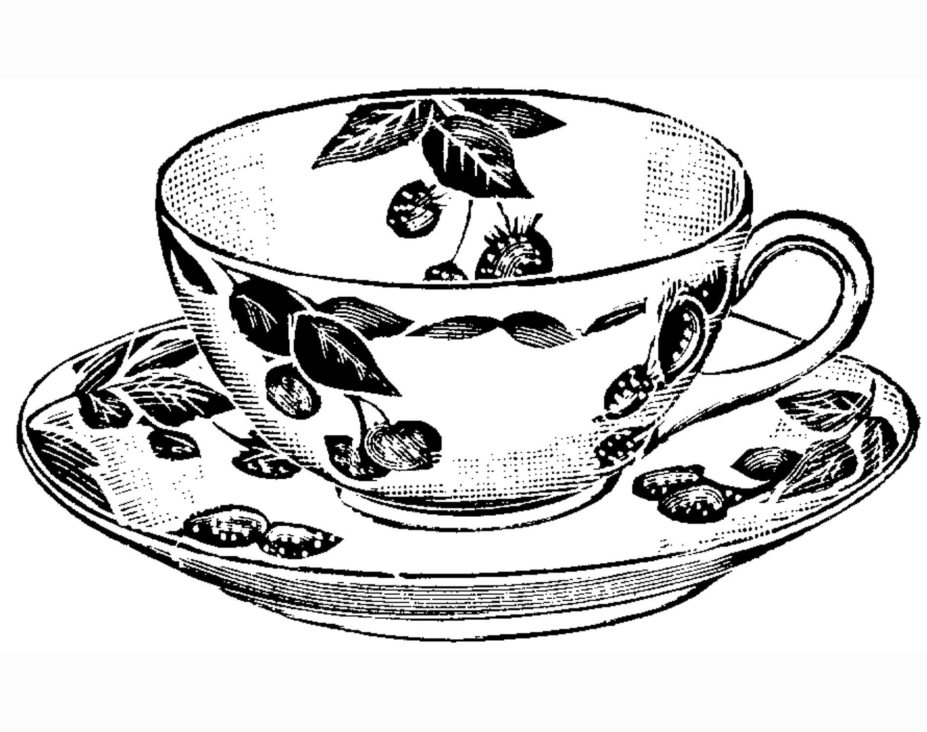 Teacup Print | Craft & Create | Tea Cup Drawing, Tea Cups, Tea - Free Printable Tea Cup Coloring Pages