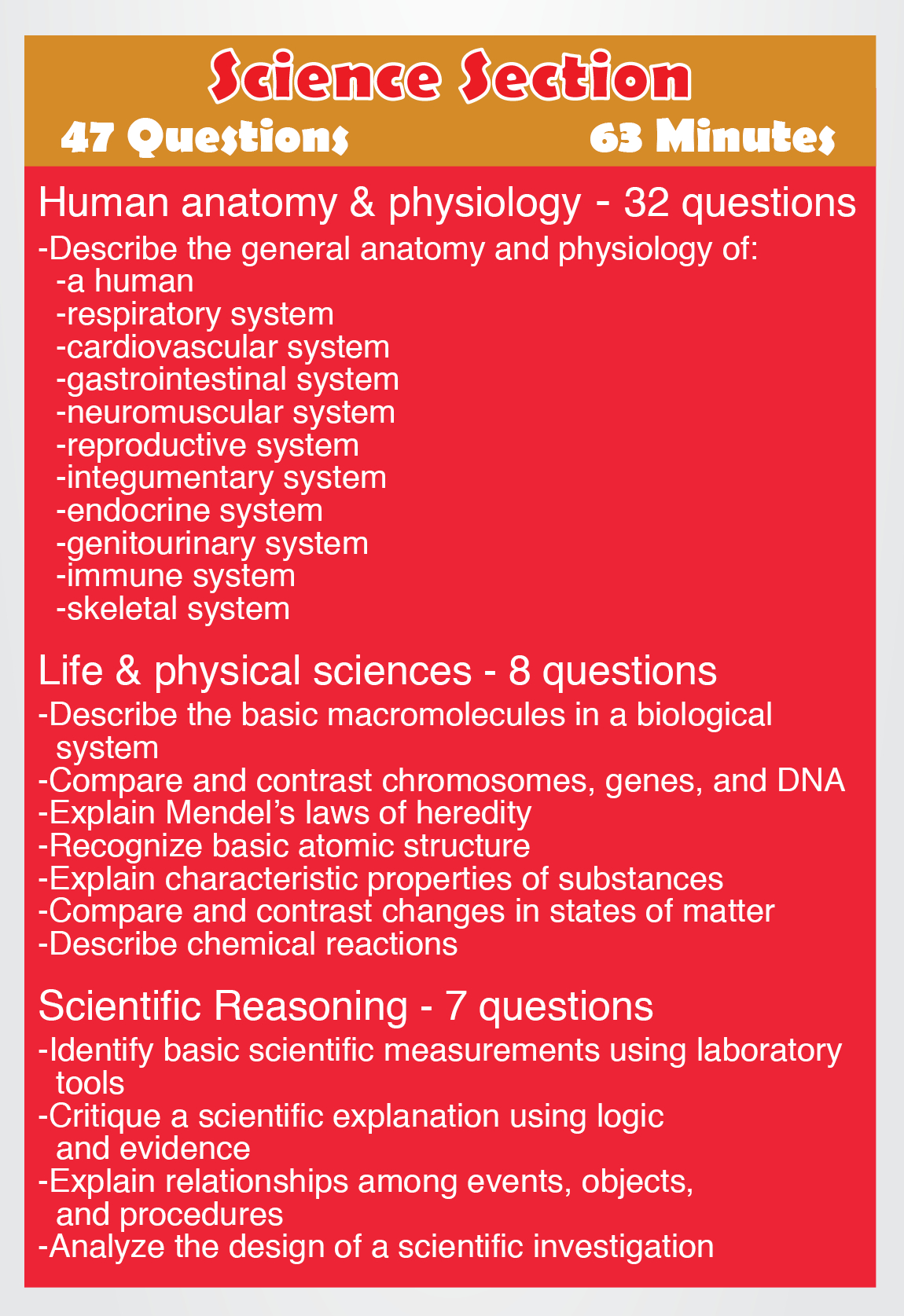 Teas Science - Content Areas Such As The Following: Human Anatomy - Free Printable Teas Study Guide