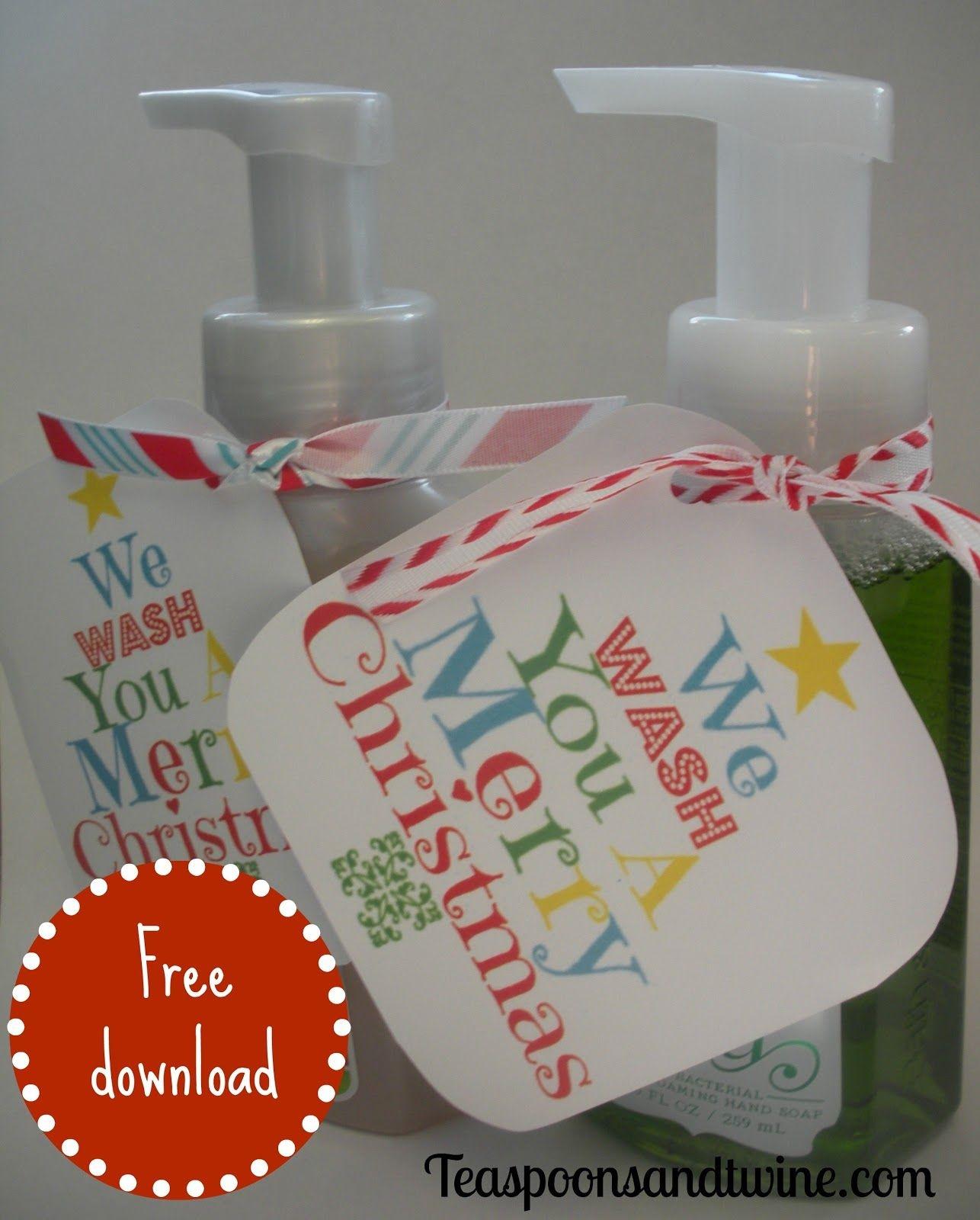Teaspoons & Twine: We Wash You A Merry Christmas | Crafty, Crafty - We Wash You A Merry Christmas Free Printable