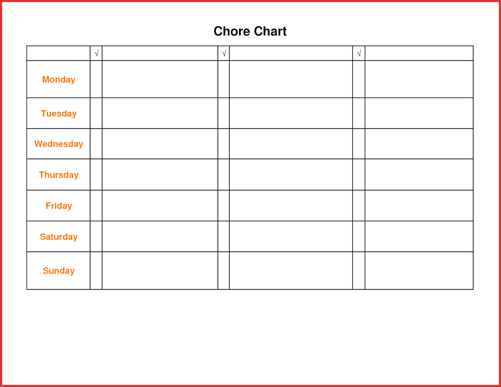 Teenager Chore Chart - Kaza.psstech.co - Free Printable Chore List For Teenager
