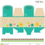 Template Box   Gift Or Candy Stock Vector   Illustration Of Nature   Printable Box Templates Free Download