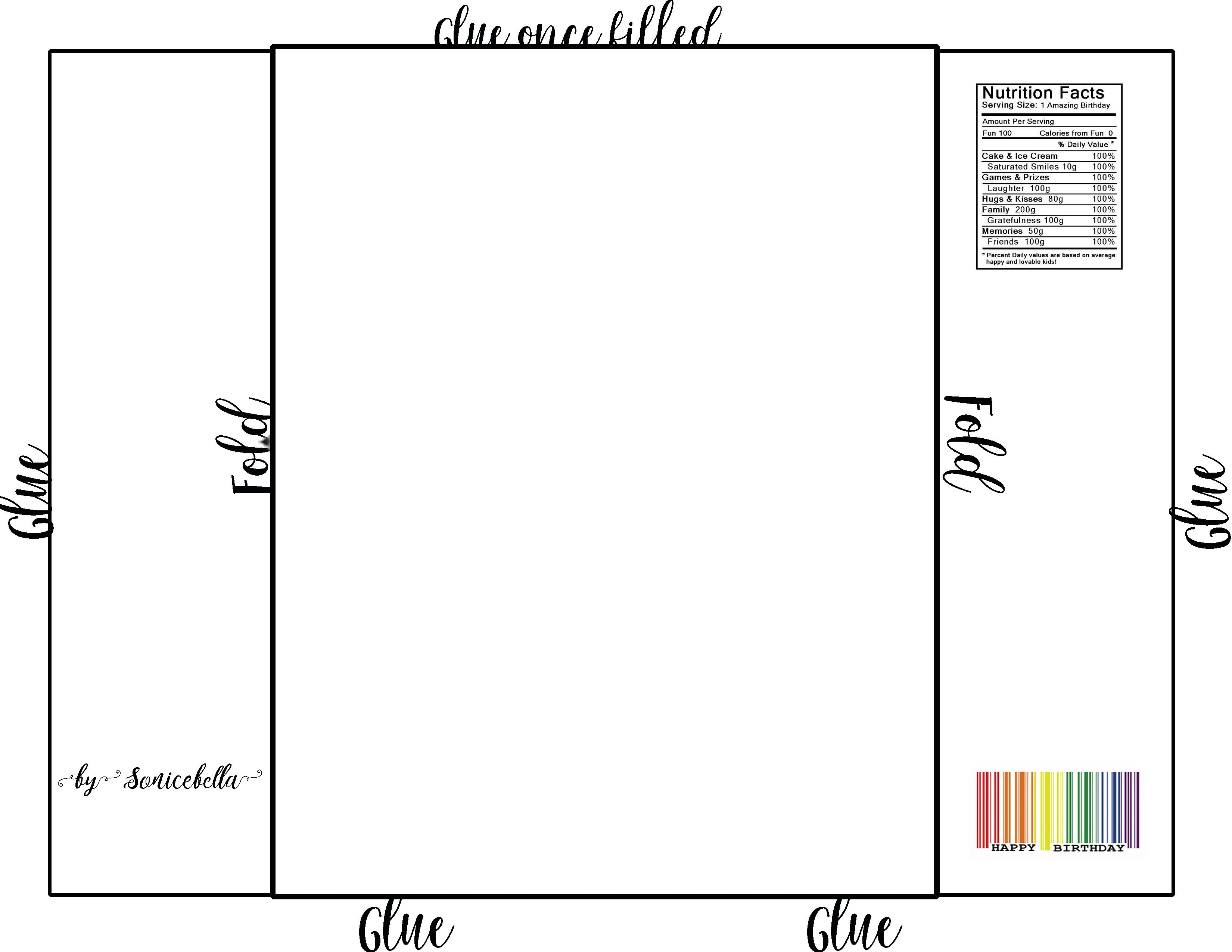 Template Collection. Full Size Candy Bar Wrapper Template - Iggms - Free Printable Candy Bar Wrappers Templates