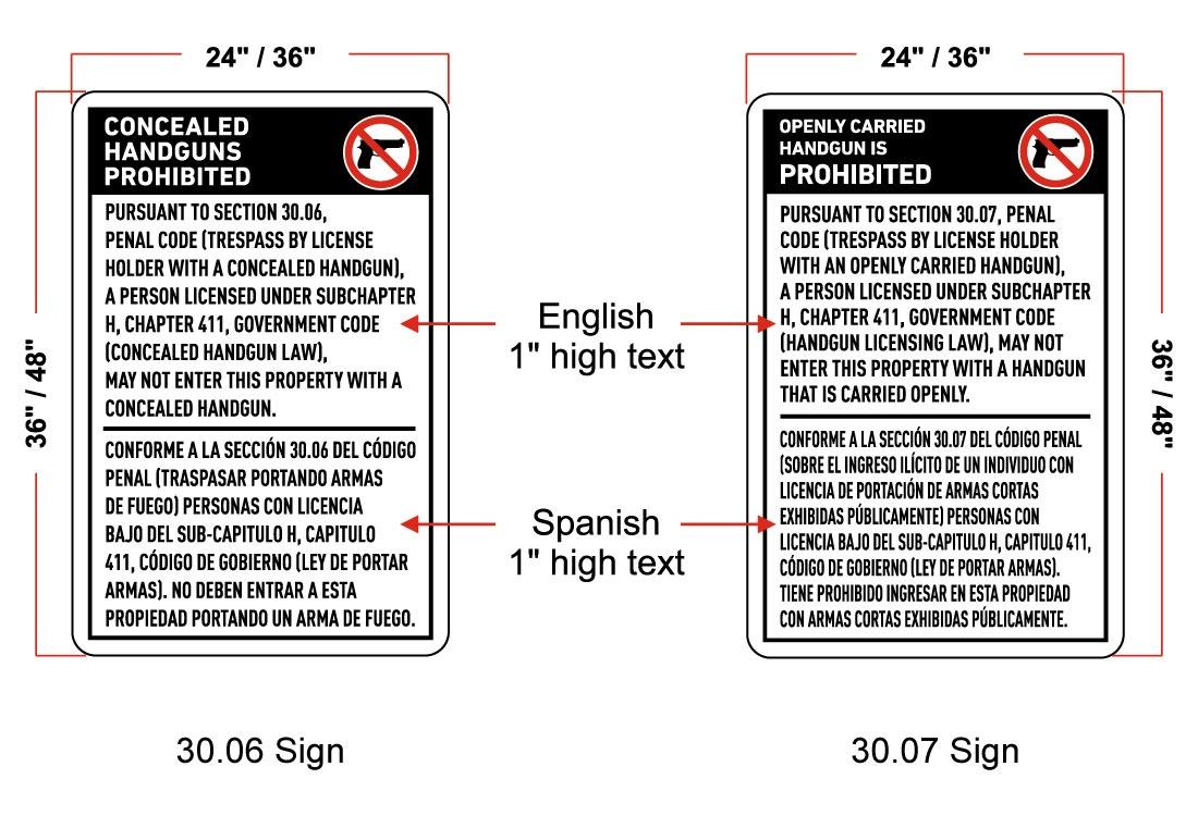 Texas No Gun Signs Faq - Free Printable No Guns Allowed Sign