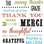 Thank You Card Free Printable   Free Printable Thank You