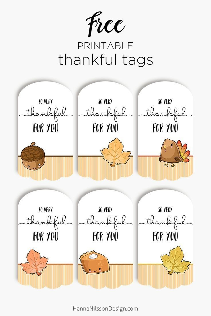Thankful For You Tags| Free Printable Tags For Thanksgiving Gifts - Thankful For You Free Printable Tags