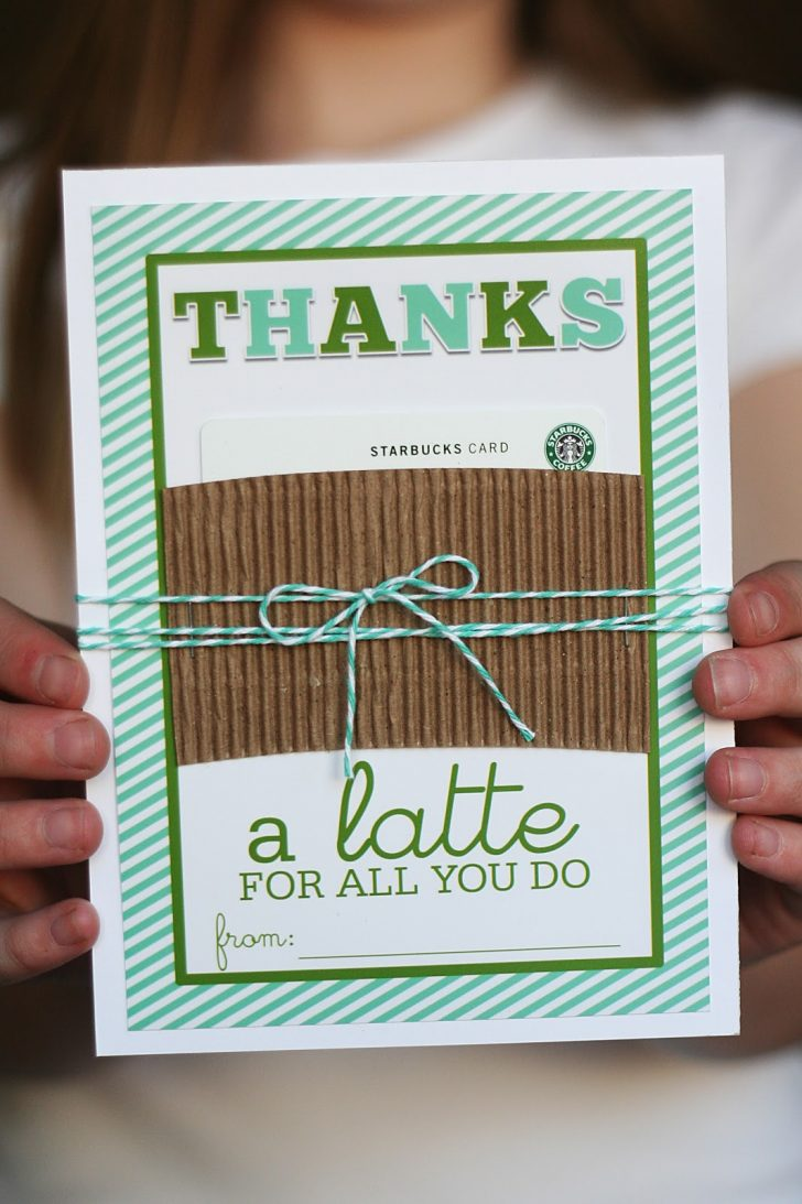 Thanks A Latte Free Printable Card
