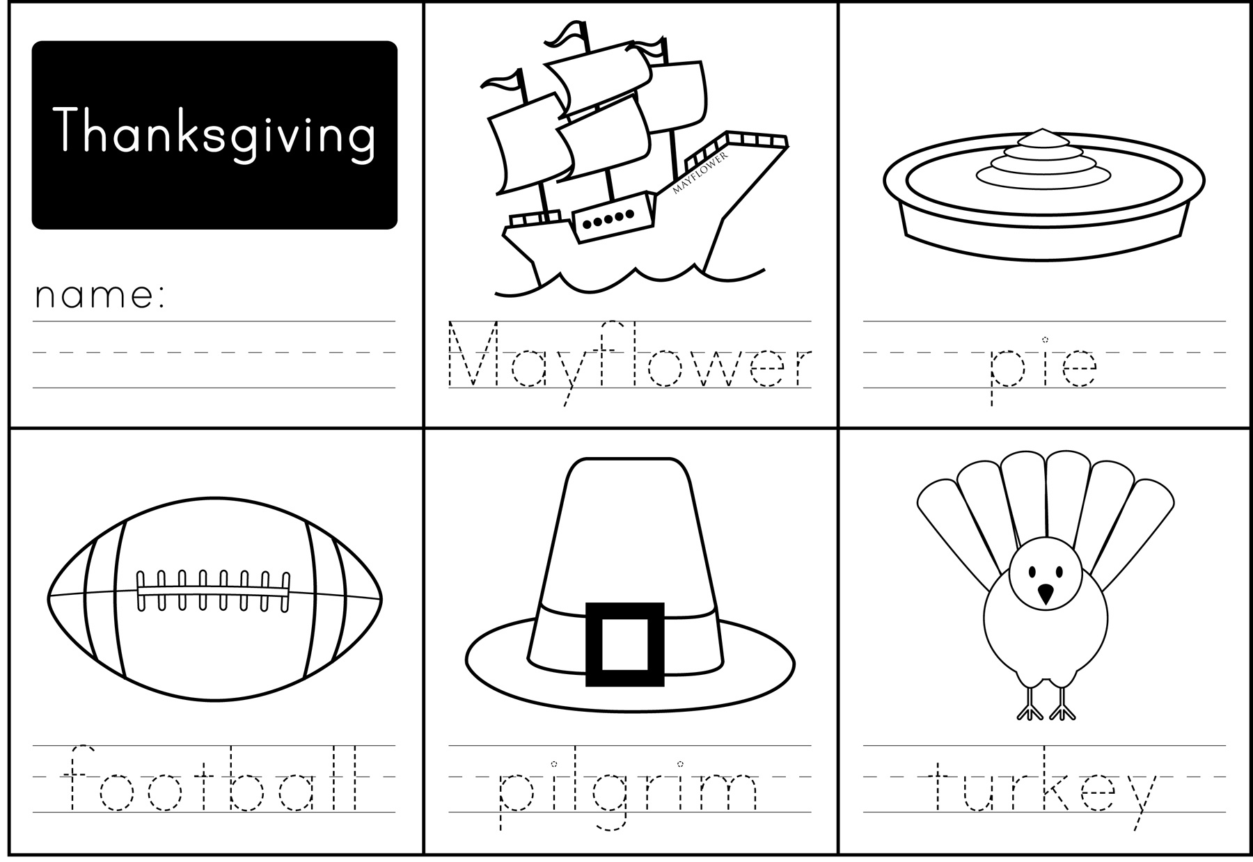 Thanksgiving Activities - Paging Supermom - Free Printable Thanksgiving Activities