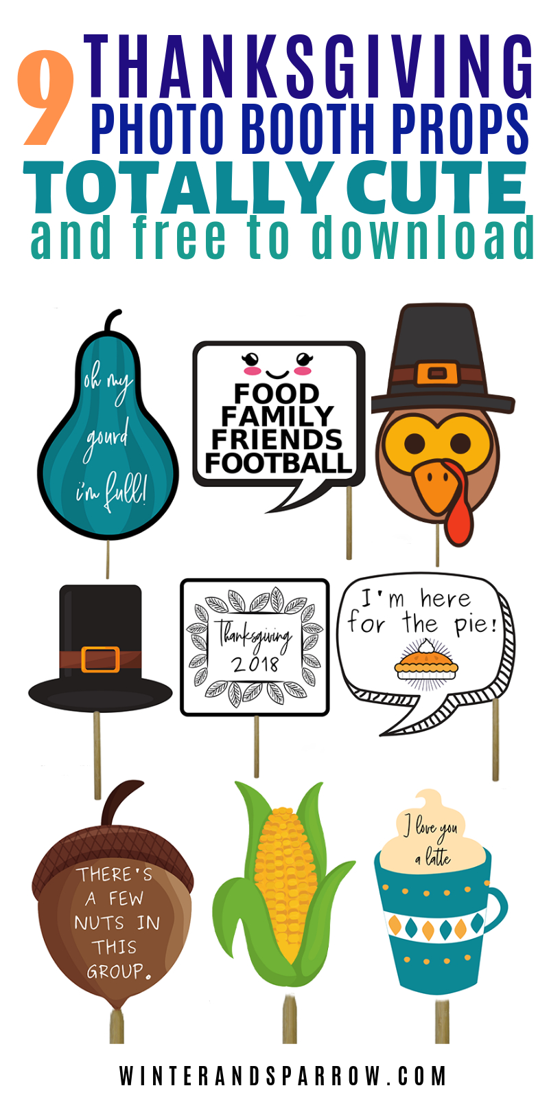 Thanksgiving Can Be Fun But It Can Also Be Stressful. If Uncle Joe - Free Printable Thanksgiving Photo Props