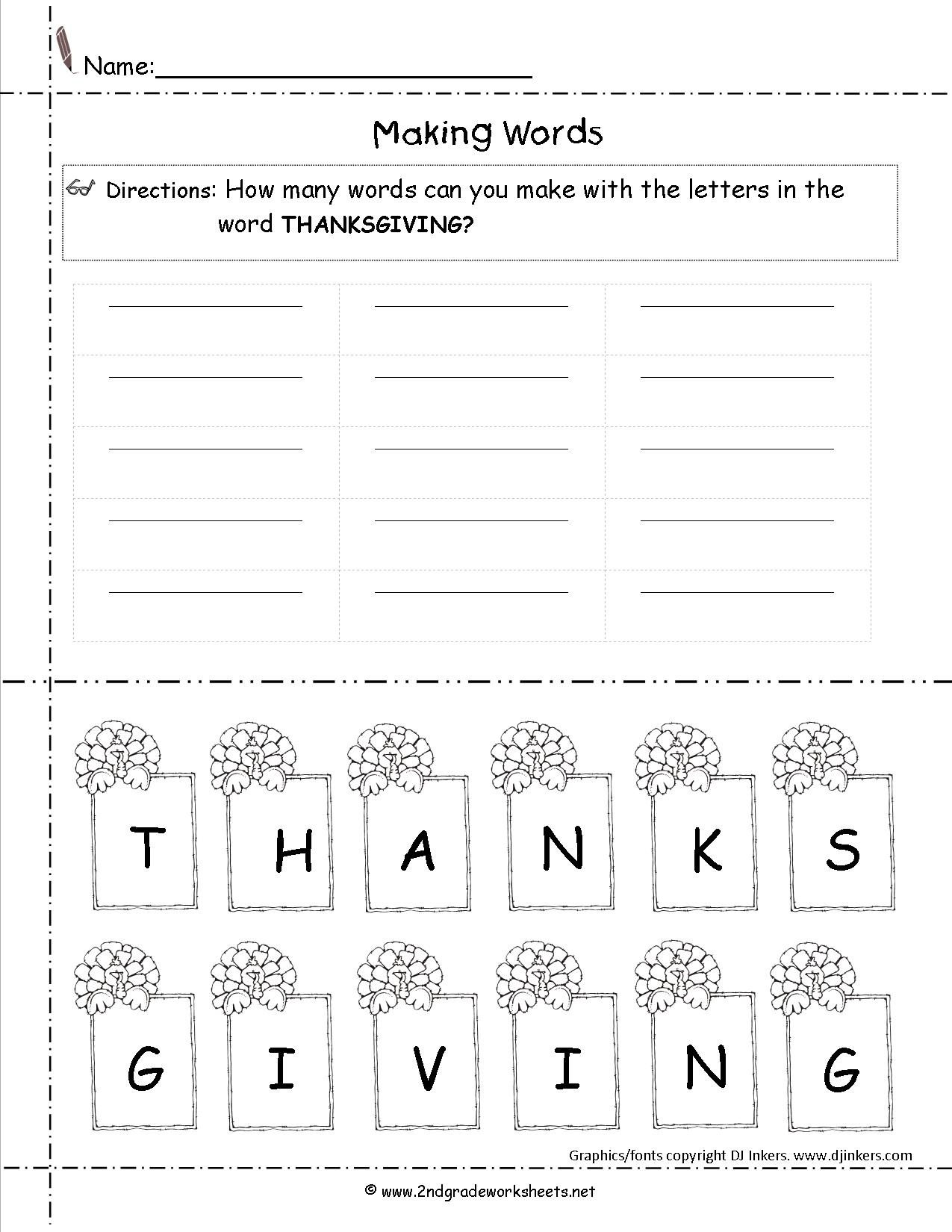 Thanksgiving Printouts And Worksheets - Free Printable Thanksgiving Worksheets