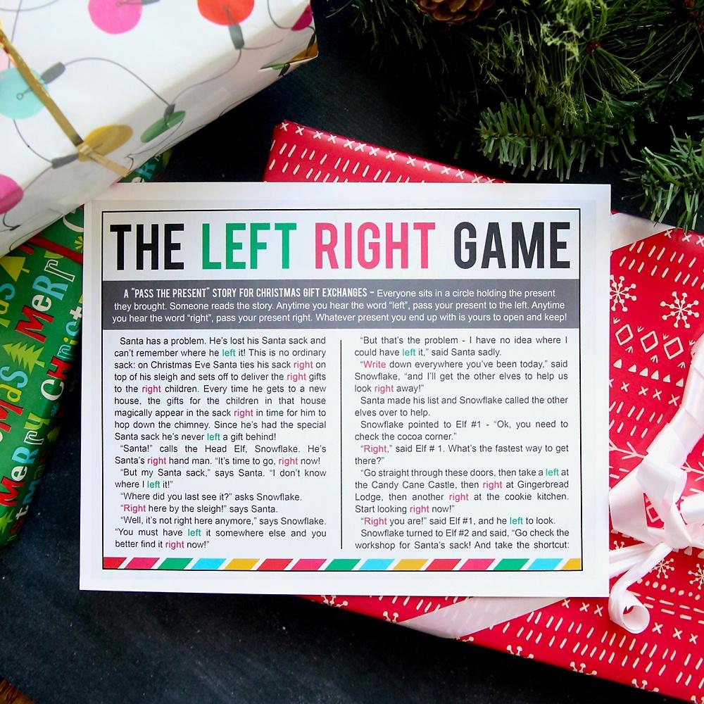 The Christmas Left Right Game (W/printable Story) - It's Always Autumn - Free Printable Religious Christmas Games