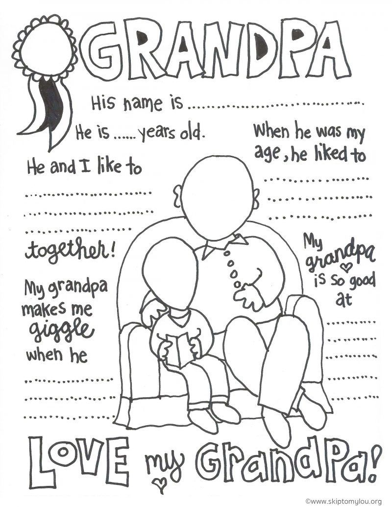 The Cutest Grandparents Day Coloring Pages | Best Of Pinterest - Free Printable Happy Fathers Day Grandpa Cards