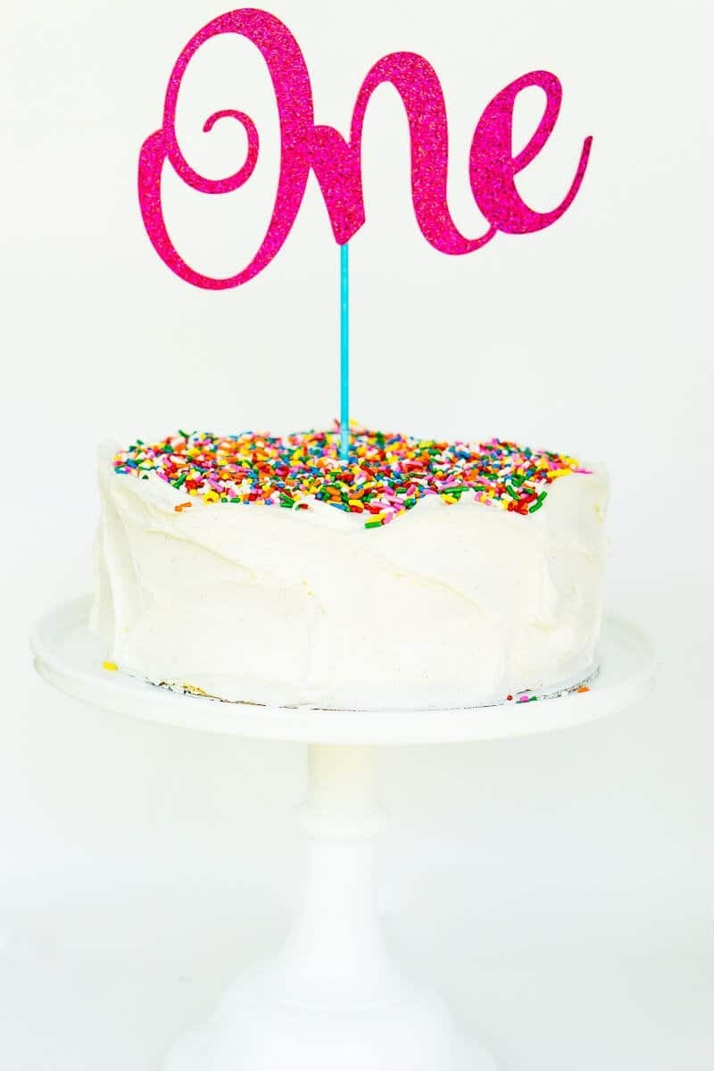 The Easiest Custom Birthday Cake Toppers You'll Ever Make - Free Printable Happy Birthday Cake Topper