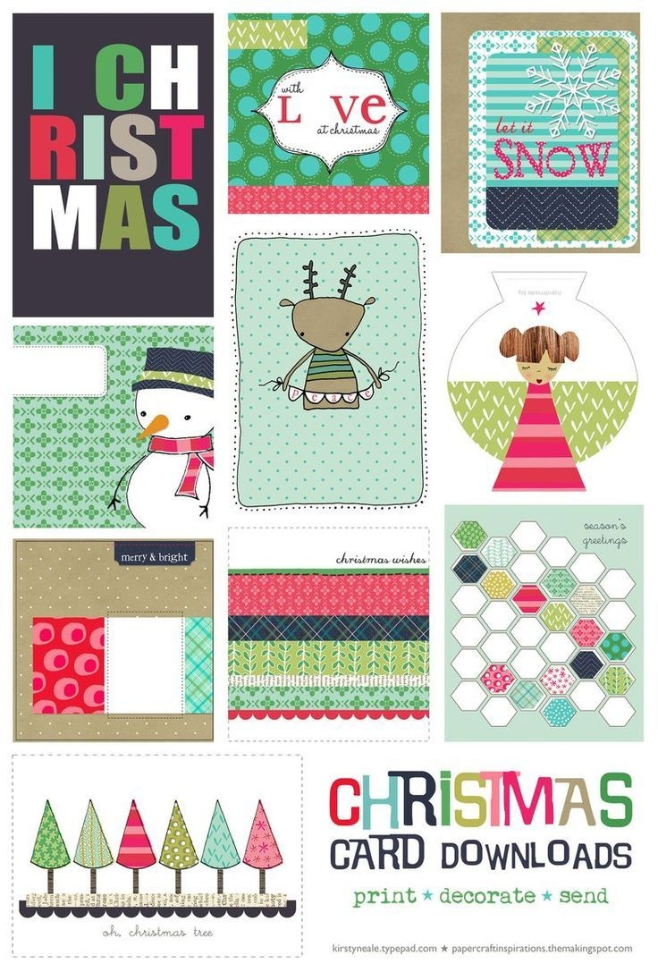 The Free Printable Are An Adorable But Inexpensive Way To Make - Make A Holiday Card For Free Printable