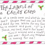 The Legend Of The Candy Cane   Free Printable | Christmas | Candy   Free Printable Candy Cane Poem