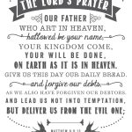 The Lord's Prayer | Free Printables   Printables That Are Free   For This Child We Have Prayed Free Printable