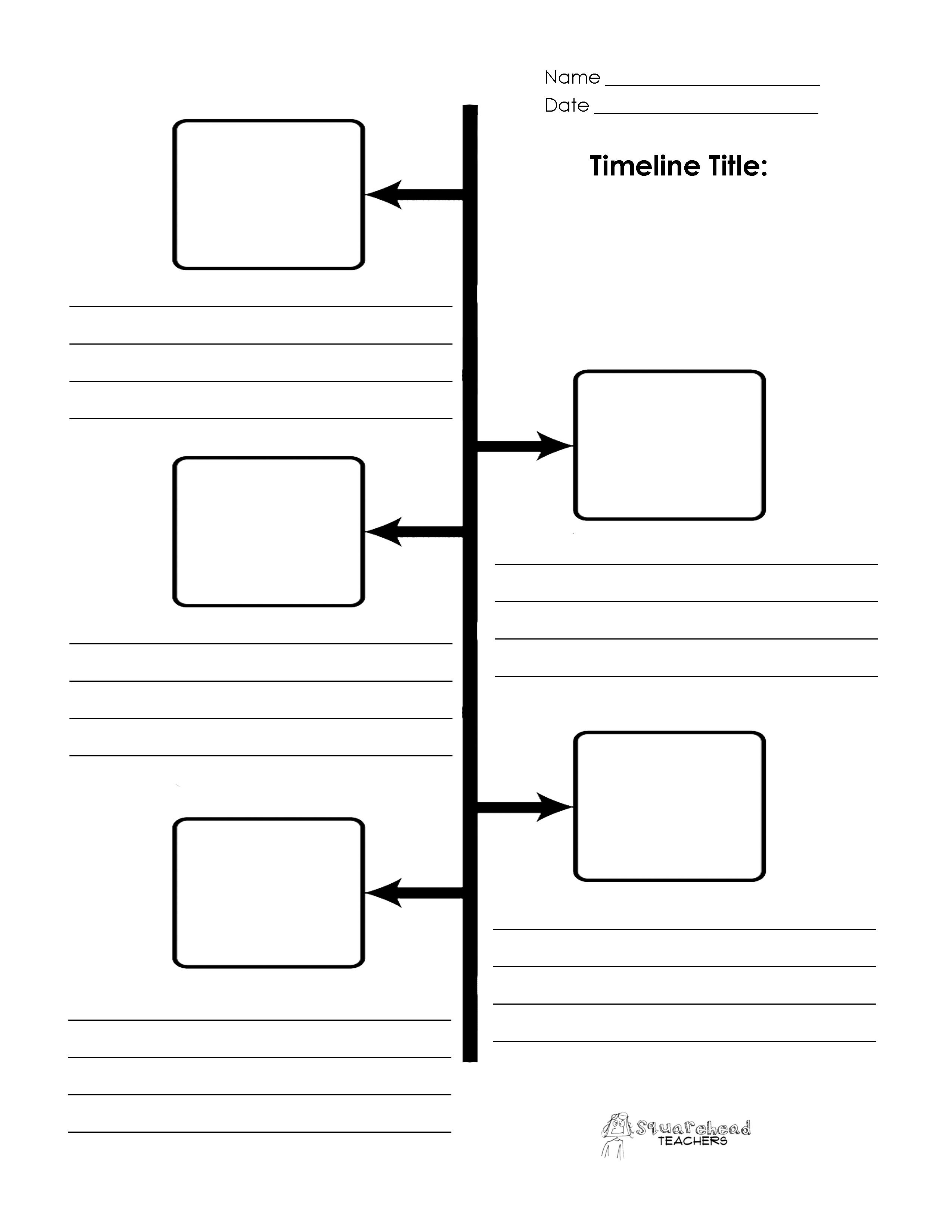 The Matchbox Diary: Social Studies | Sequence Of Events Timeline - Free Blank Timeline Template Printable