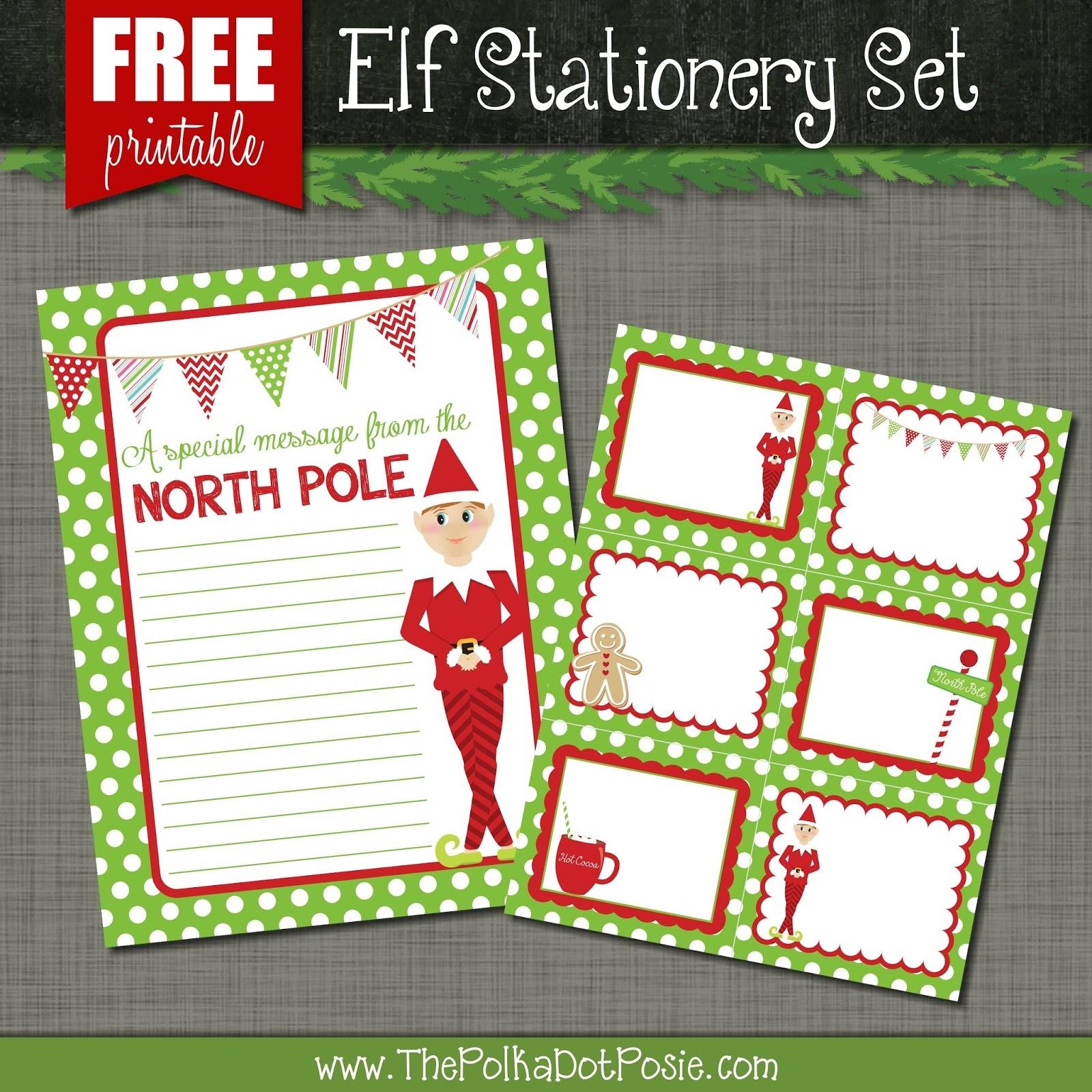 The Polka Dot Posie: Free Printables For Your Christmas Elf - Free Printable Elf Stationery