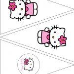 The Vintage Farmhouse: Hello Kitty Party & Free Printables | Hello   Free Printable Hello Kitty Pictures