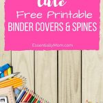 These Cute Free Printable Binder Cover & Spines Are The Perfect Back   Free Printable Binder Covers And Spines