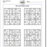 These Printable Sudoku Puzzles Range From Easy To Hard, Including   Free Printable Sudoku Puzzles
