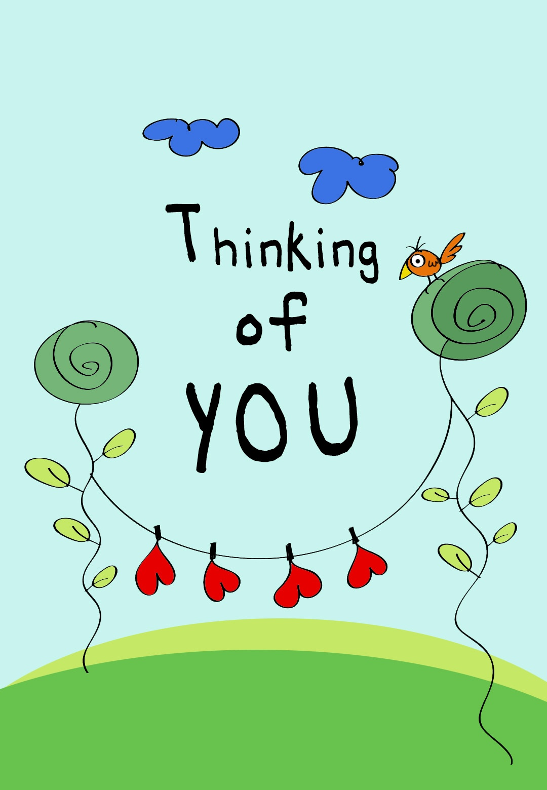 Thinking Of You - Love Card (Free) | Greetings Island - Free Printable Funny Thinking Of You Cards