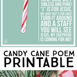 This Candy Cane Poem Is A Lovely Reminder Of The True Reason For The   Free Printable Candy Cane Poem