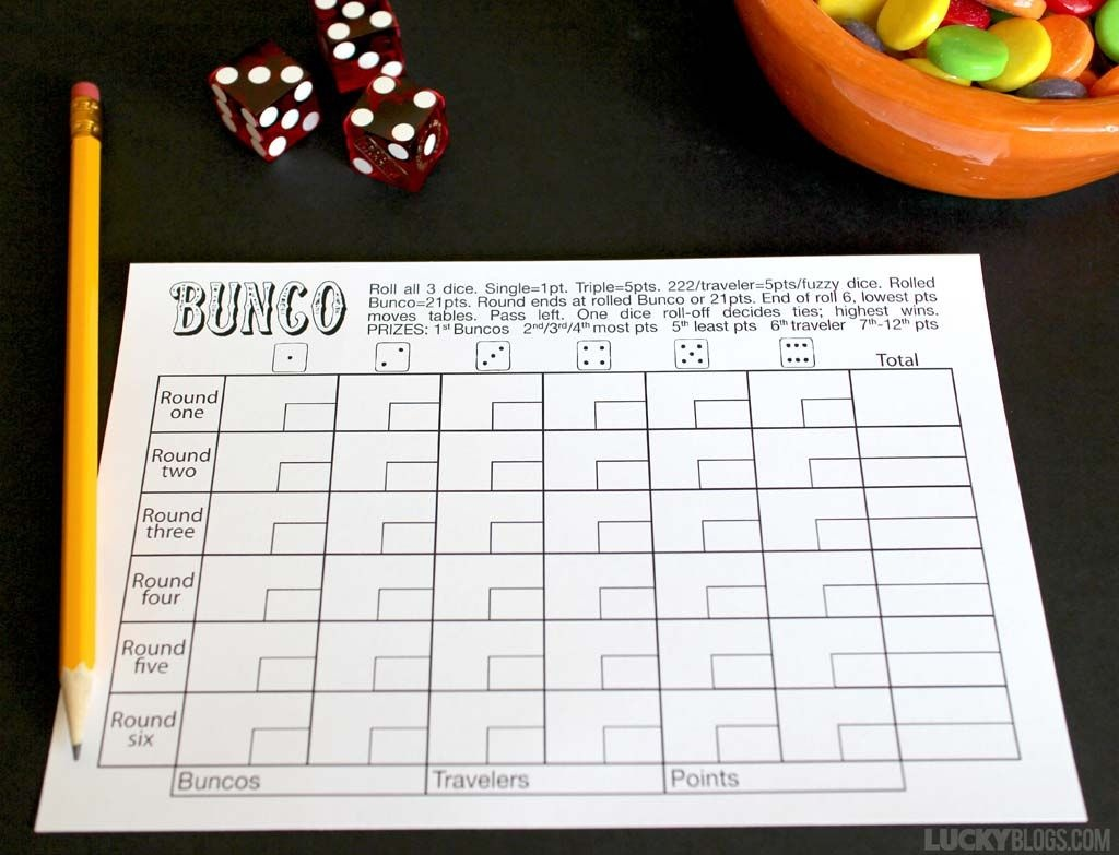 This Free Bunco Score Sheet Makes Room To Tally And Keep Track Of - Free Printable Halloween Bunco Score Sheets