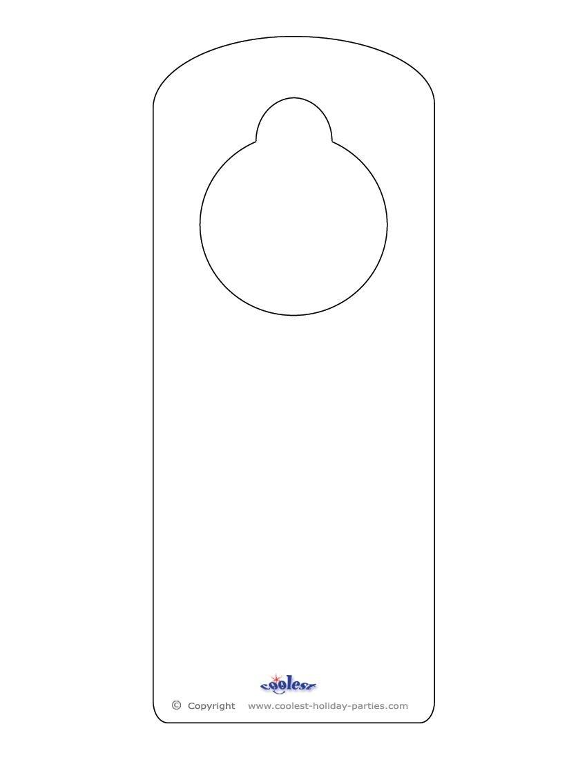 This Printable Doorknob Hanger Template Can Be Decorated However You - Free Printable Door Hanger Template