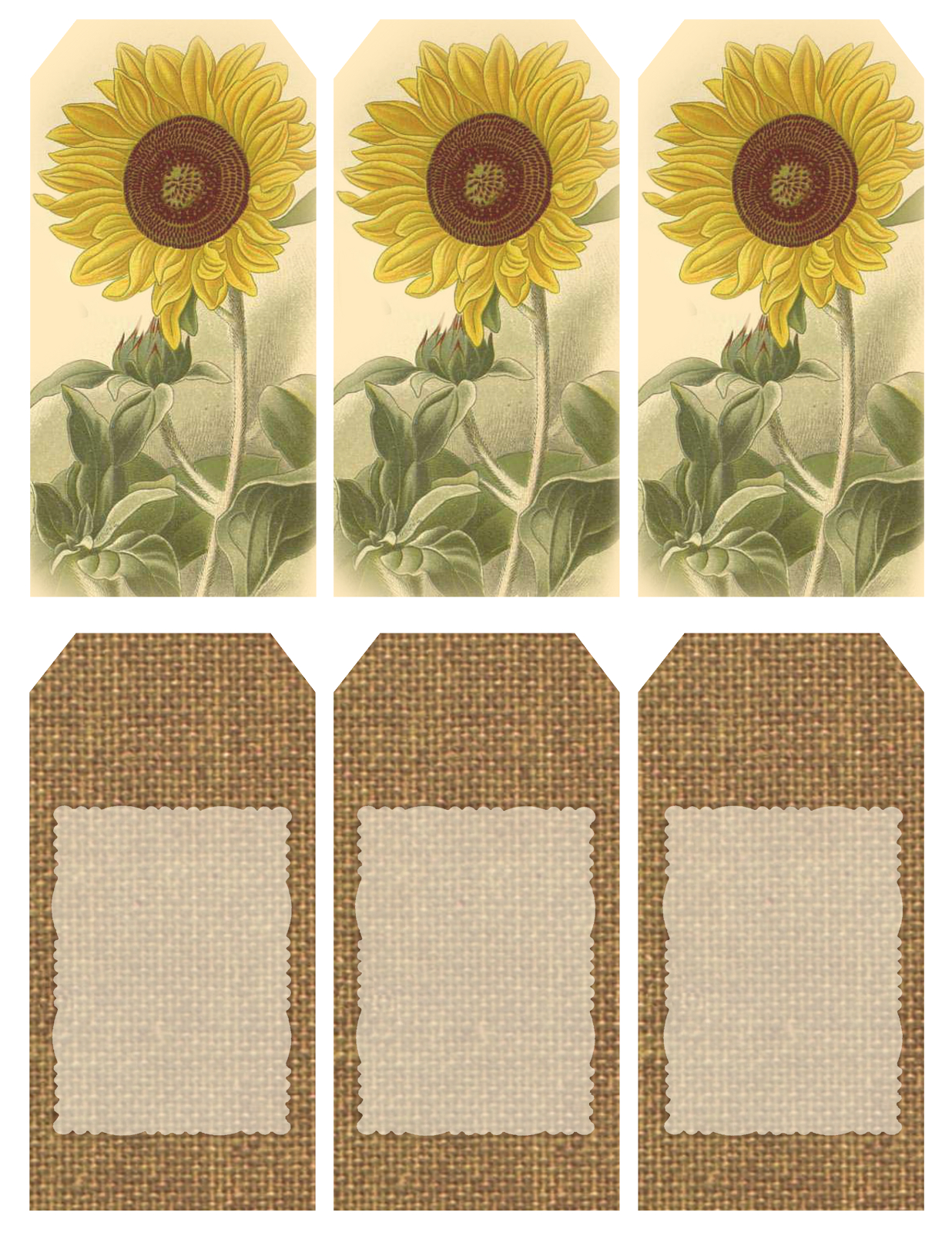 "Those Who Bring Sunshine"" ~ Printable Sheet Of 6 Sunflower And - Free Printable Sunflower Template"