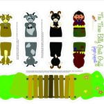 Three Billy Goats Gruff Printable Puppets | Pre K | Finger Puppets   Three Billy Goats Gruff Masks Printable Free