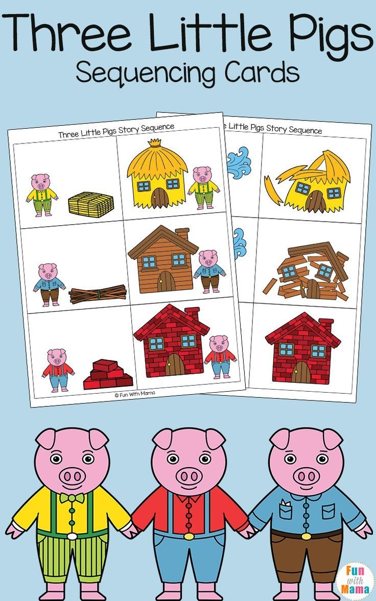Three Little Pigs Sequencing Cards | Nursery Ryhmes, Folk Tales - Free Printable Stories For Preschoolers
