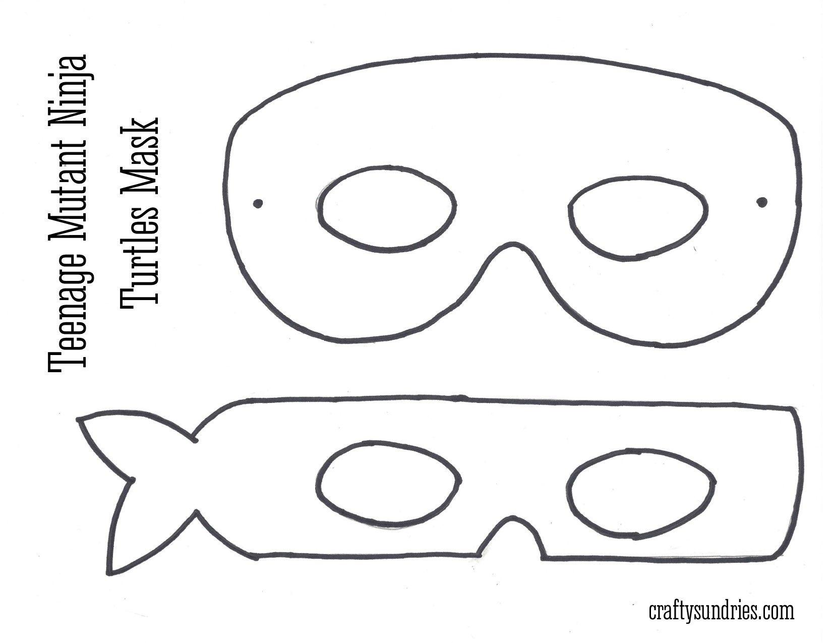 Tmnt Mask … | Work - Teenage Mutant Ninja Turtle | Ninja Turtle Mask - Teenage Mutant Ninja Turtles Free Printable Mask