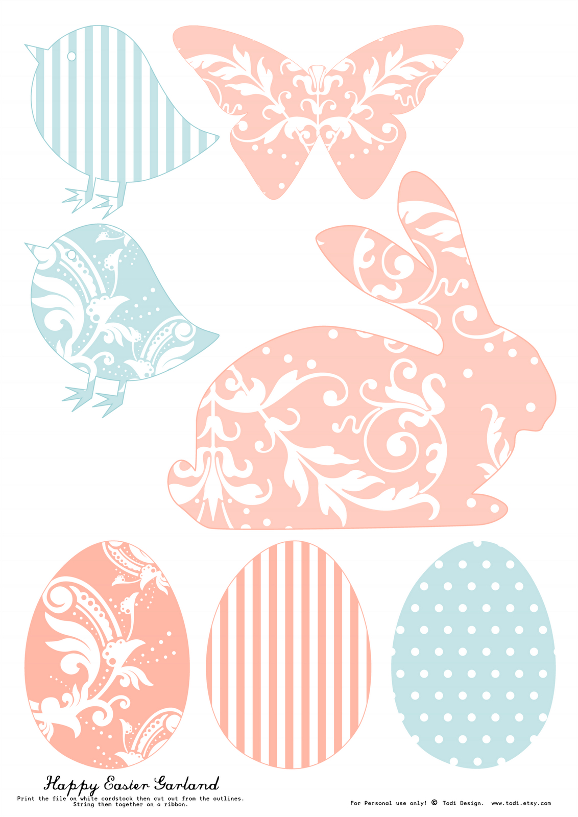 Todi: Free Printables For Easter Decoration. Th Print Used For This - Free Printable Easter Decorations