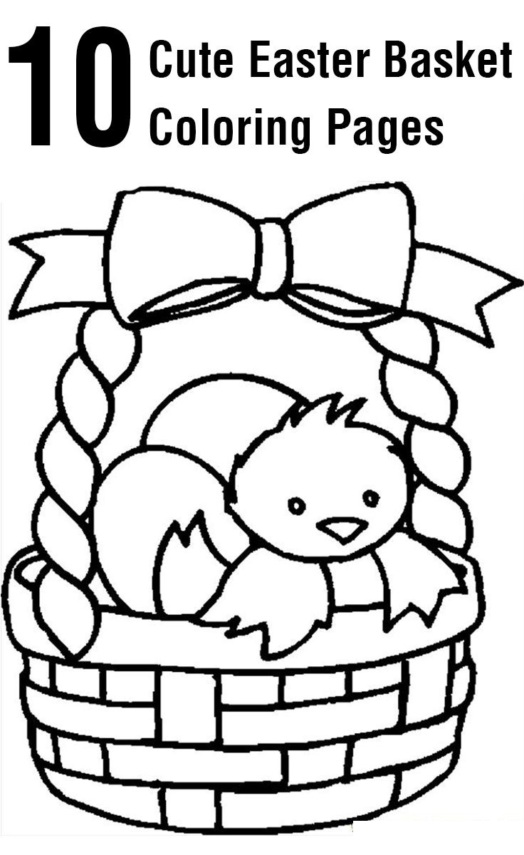 Top 10 Free Printable Easter Basket Coloring Pages Online | Coloring - Free Printable Easter Coloring Pages For Toddlers