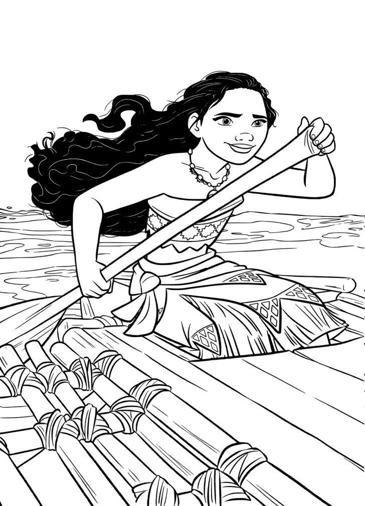 Moana Coloring Pages Free Printable