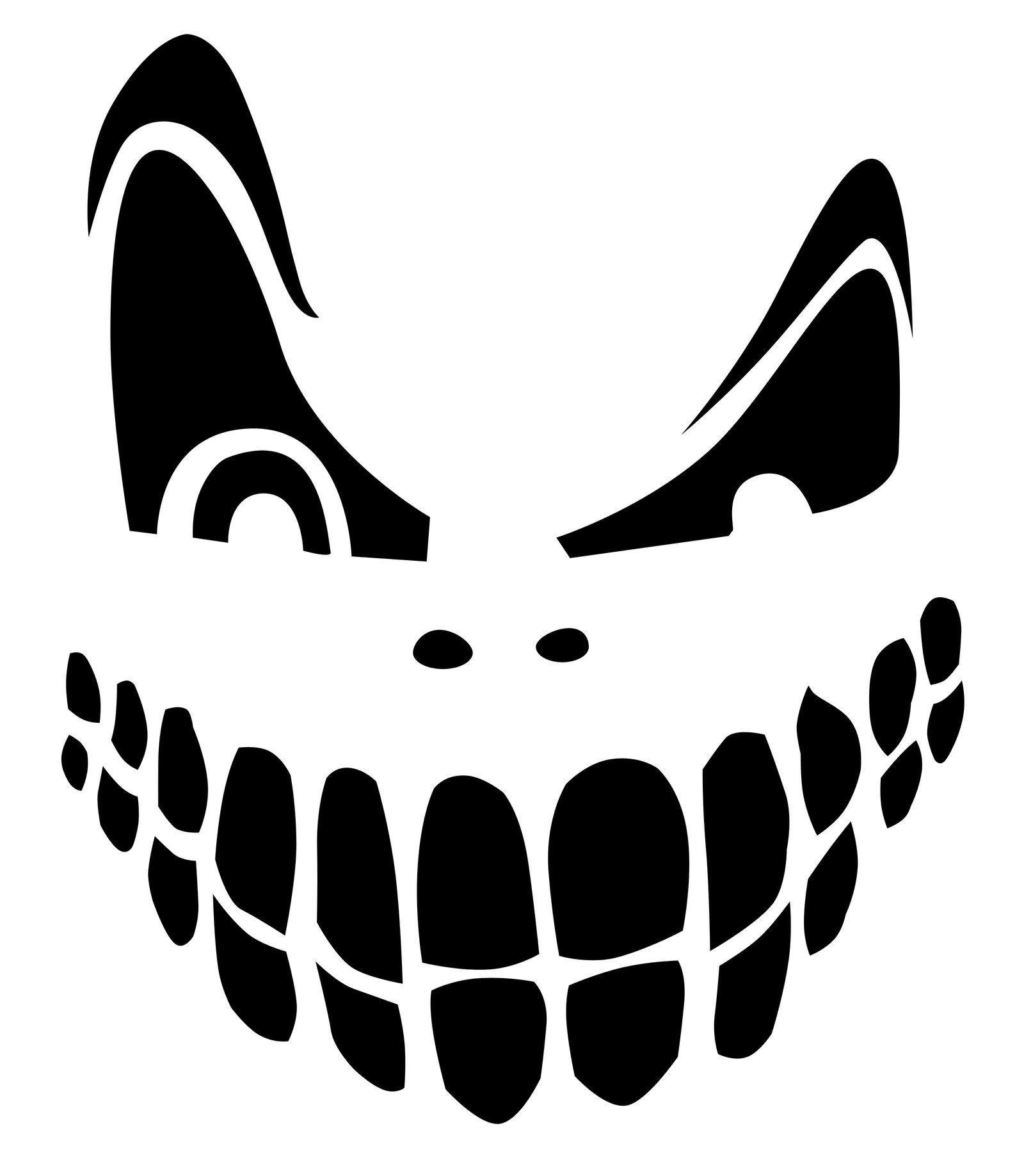 Top 100+ Jack O Lantern Faces Patterns Stencils Ideas | Halloween - Scary Pumpkin Stencils Free Printable