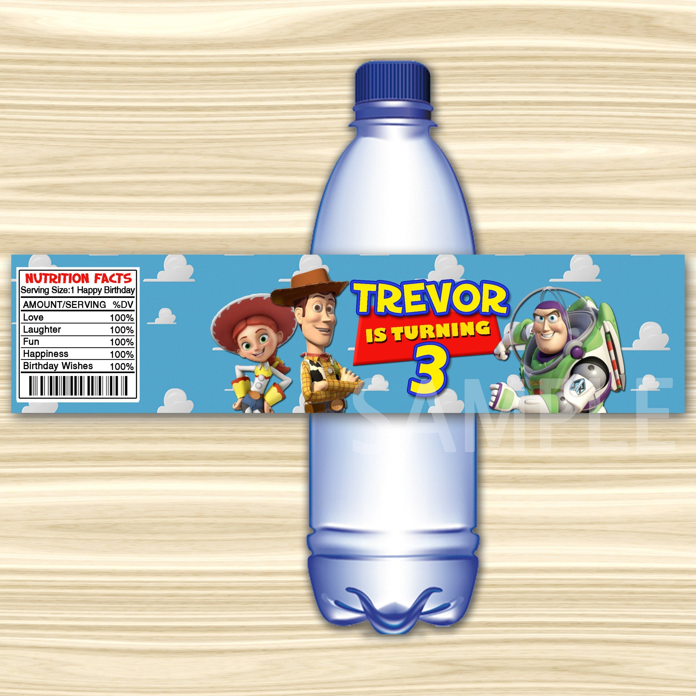 Toy Story Bottle Label.toy Story Water Label. Diy Toy Story | Etsy - Free Printable Toy Story Water Bottle Labels