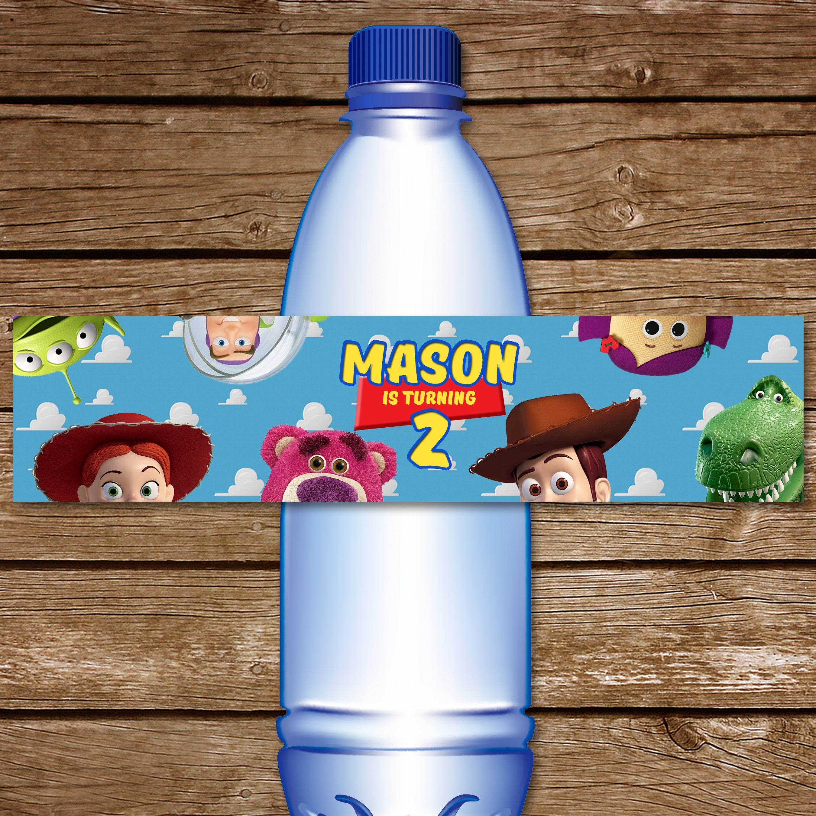 Toy Story Water Bottle Label. Printable Toy Story Water | Etsy - Free Printable Toy Story Water Bottle Labels