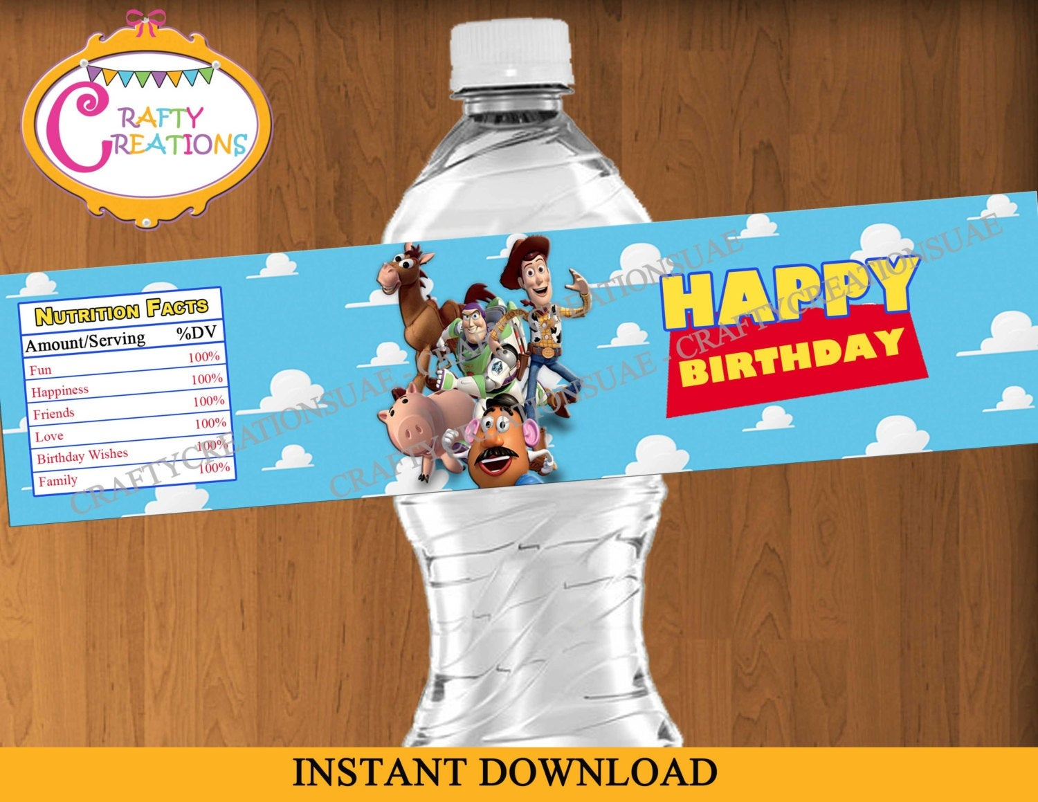 Toy Story Water Bottle Labels Printable Toy Story Birthday | Etsy - Free Printable Toy Story Water Bottle Labels