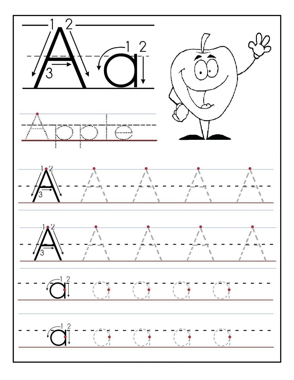 Trace Letter A For Preschool | Kids Stuff Organization | Letter - Free Printable Letter Worksheets