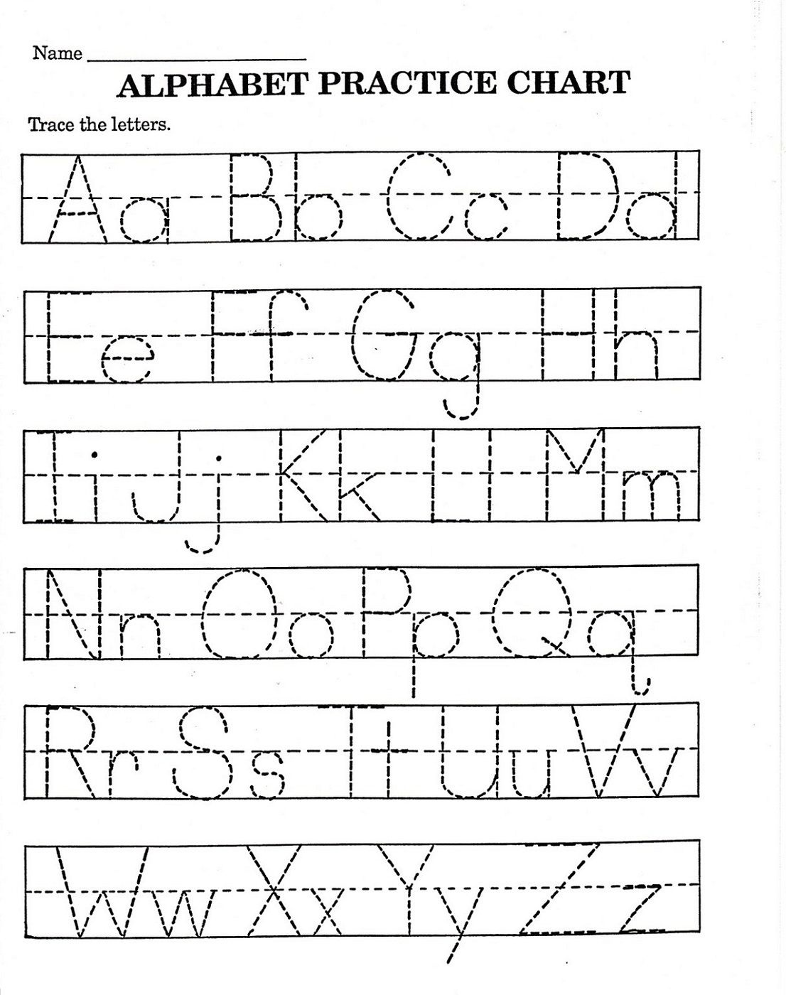 Trace Letter Worksheets Free | Reading And Phonics | Pre K Math - Free Printable Abc Worksheets