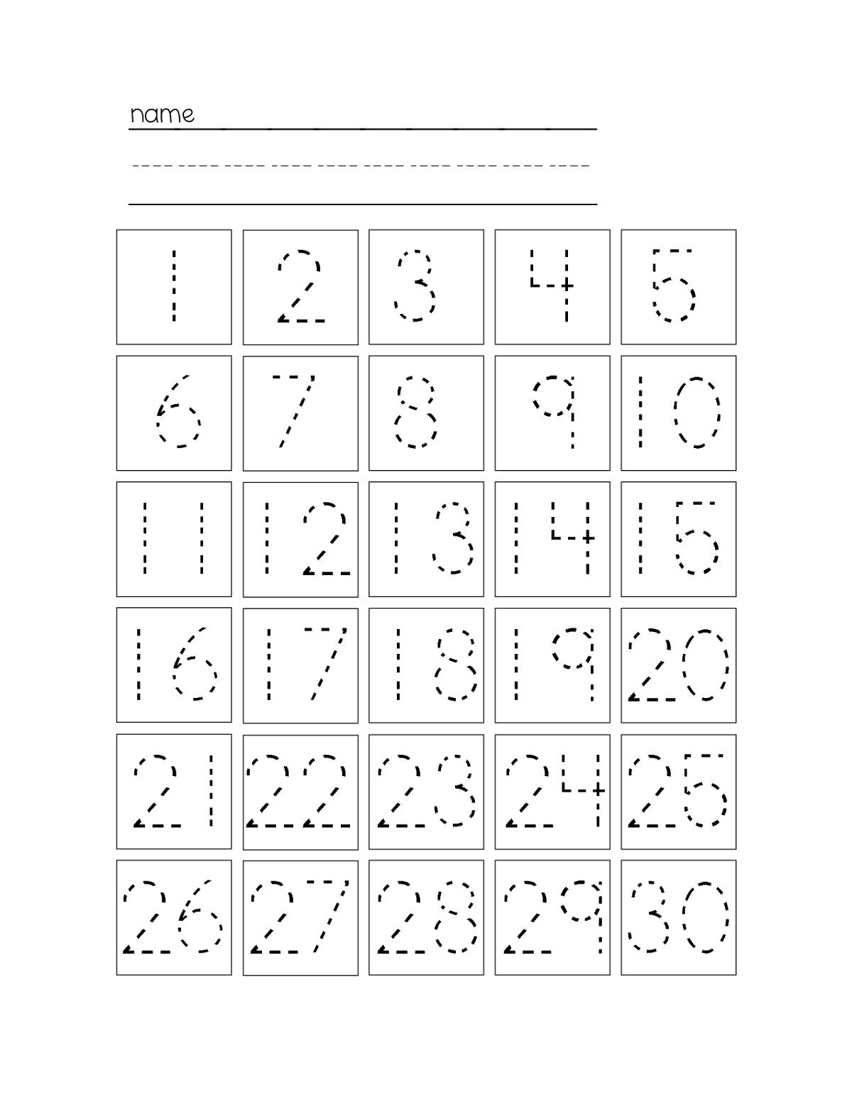 Trace Number Worksheets Free | Kiddo Shelter | Kids Worksheets - Free Printable Tracing Numbers 1 20 Worksheets
