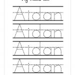 Trace Your Name Worksheet Free | Handwriting/journaling | Name   Free Printable Name Tracing Worksheets