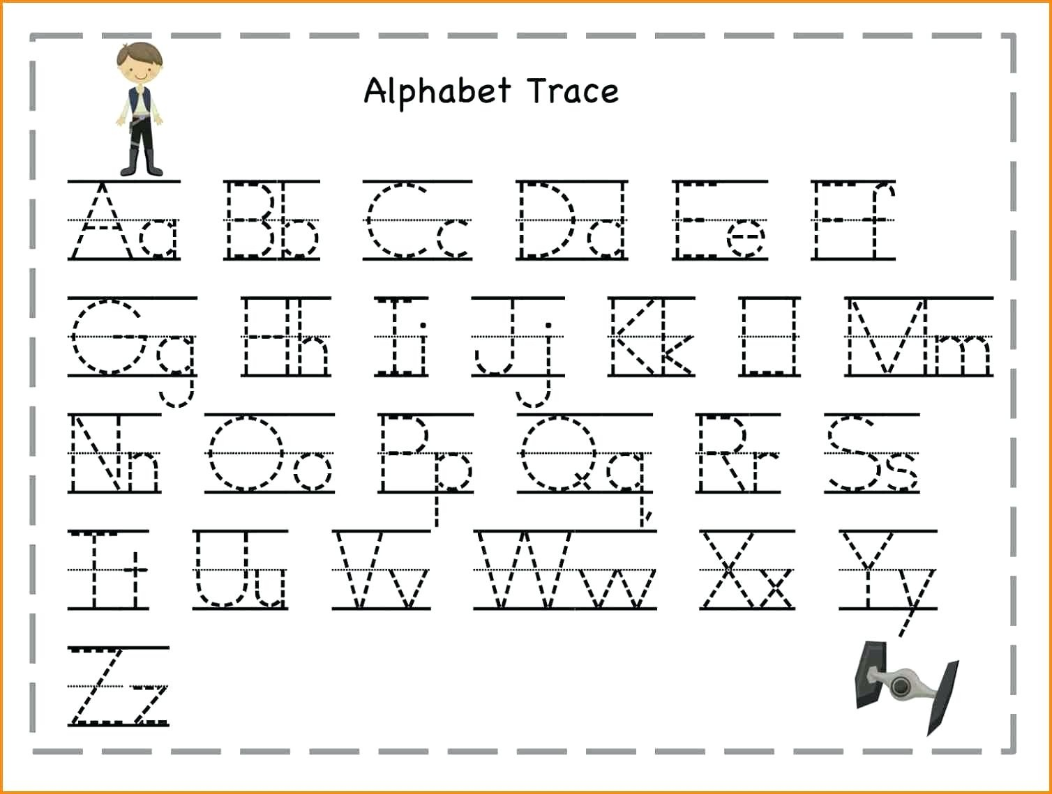 Tracing The Alphabet Printable – Cartofix.club - Free Printable Traceable Letters