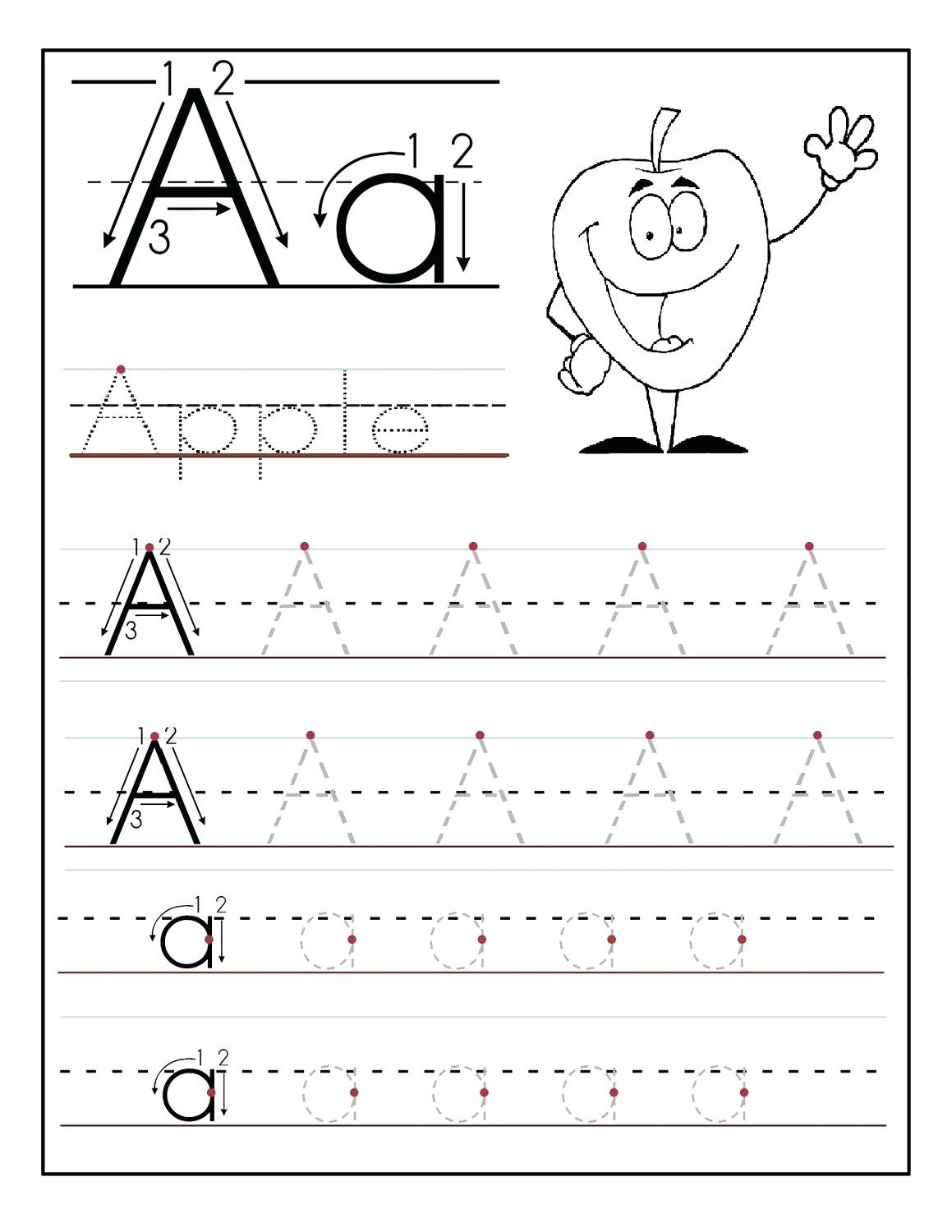 Tracing The Alphabet Printable – Cartofix.club - Free Printable Tracing Alphabet Worksheets