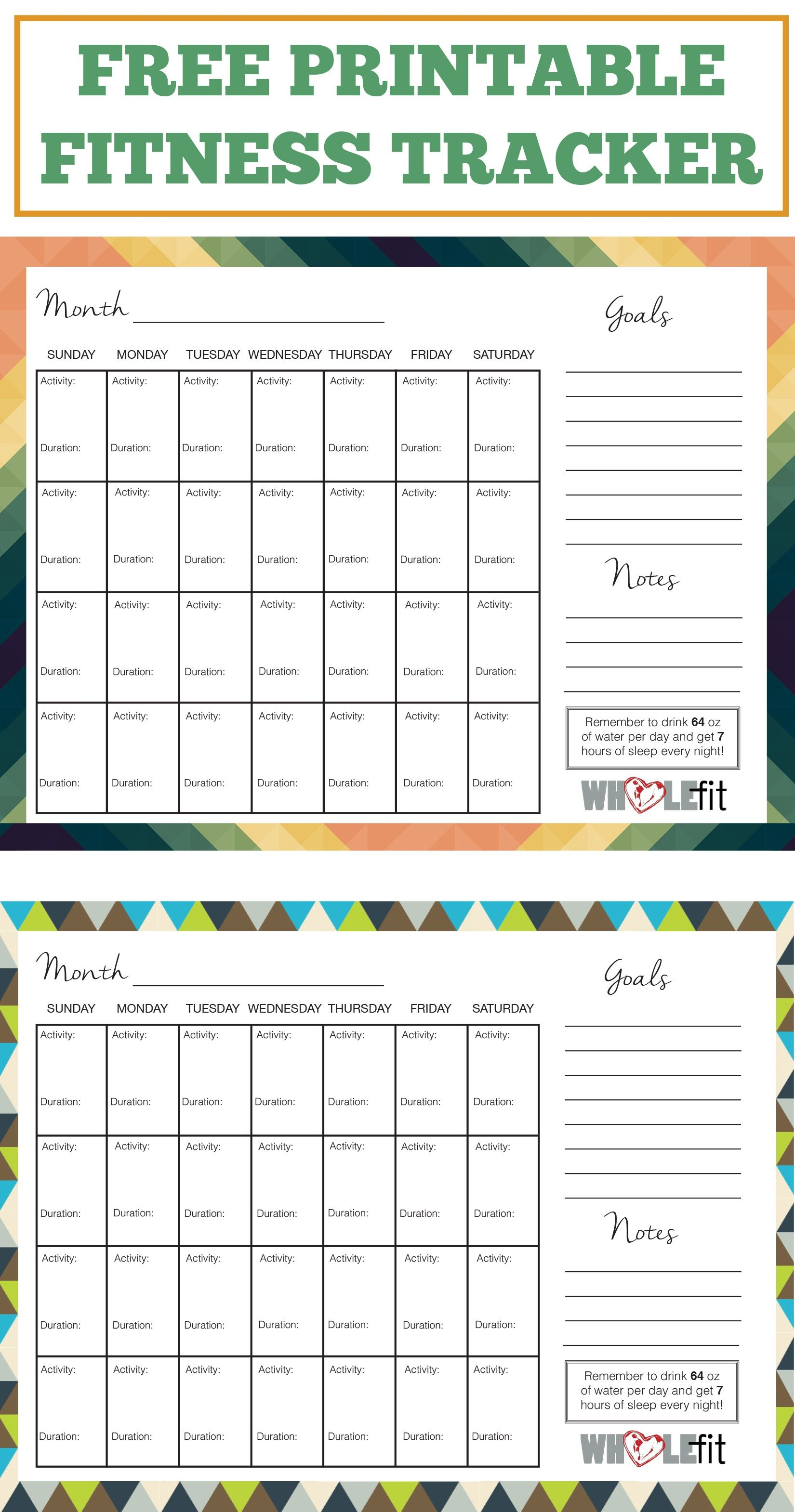 Track Your Progress With These Free Printable Fitness Trackers!   My - Free Printable Fitness Tracker