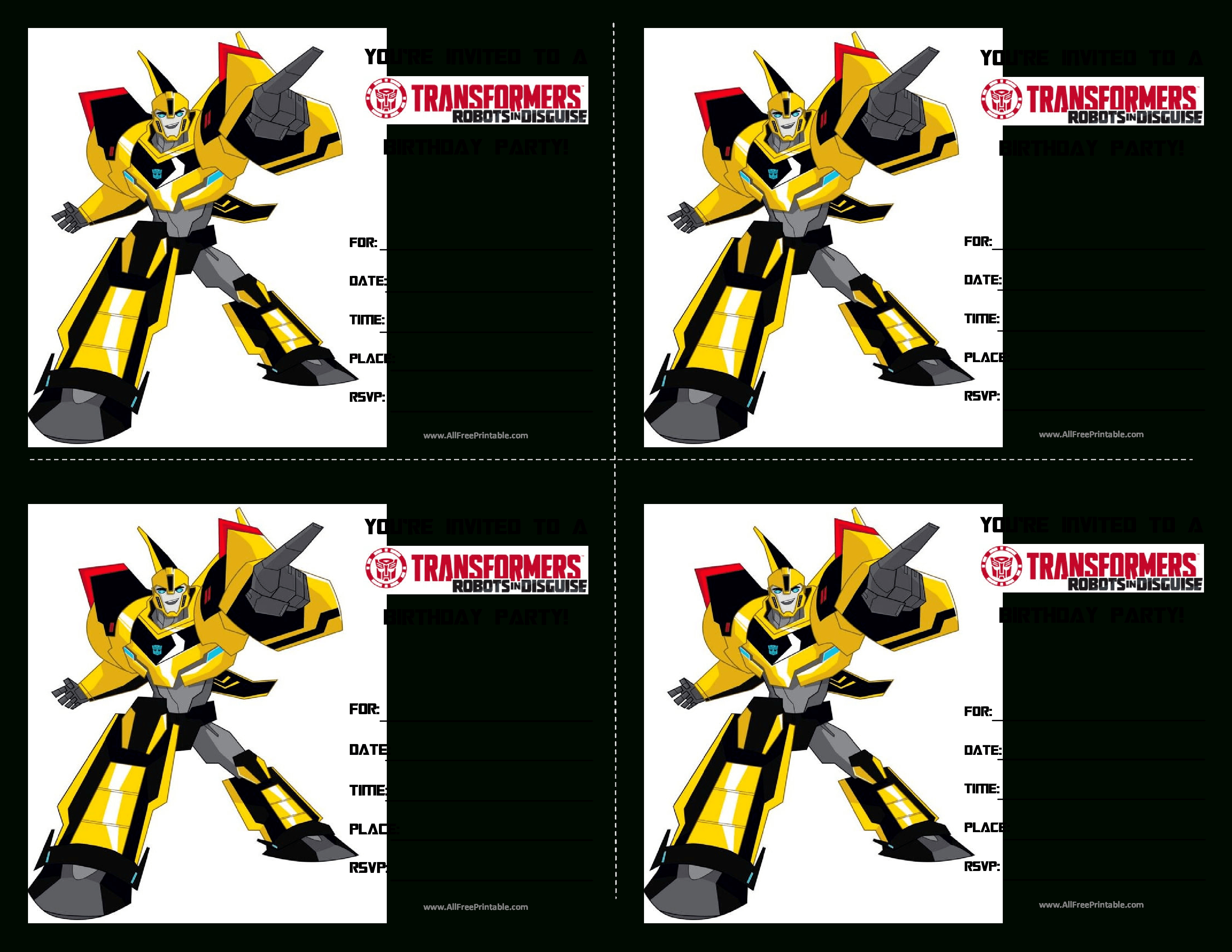 Transformers Birthday Invitations - Anarchistshemale - Transformers Party Invitations Free Printable