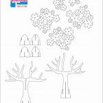 Tree 3D Pop Up Card/ Kirigami Pattern 1   Pop Up I Kirigami Pattern   Free Printable Kirigami Pop Up Card Patterns